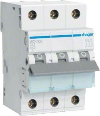 Hager Leitungsschutzschalter 3pol. C-32A, 6kA MCN332