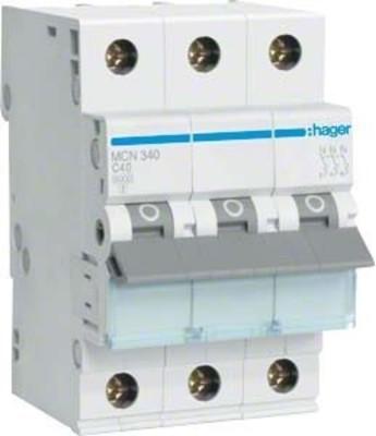 Hager Leitungsschutzschalter 3pol. C-40A, 6kA MCN340