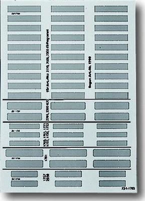 Busch-Jaeger Beschriftungsbogen transparent 1799/03