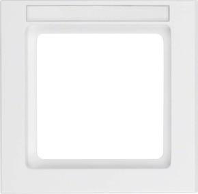 Berker Rahmen 1-fach pws samt m.Beschriftungsfeld 10516099