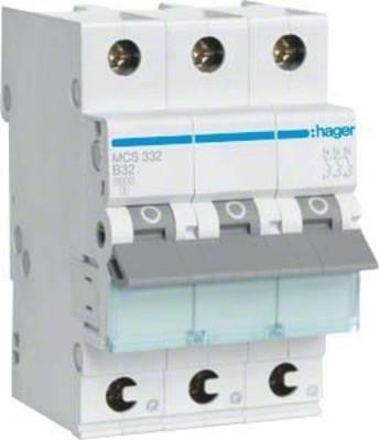 Hager Leitungsschutzschalter 3p. C-32A 6kA 3M QC MCS332
