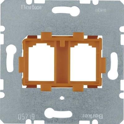 Berker Tragplatte 2-fach ch or f.Modular Jacks 454109
