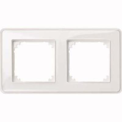 Merten Rahmen 2-fach ch tr/pws m. Farbeinlegerset MEG4020-3500