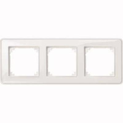 Merten Rahmen 3-fach ch tr/pws m. Farbeinlegerset MEG4030-3500