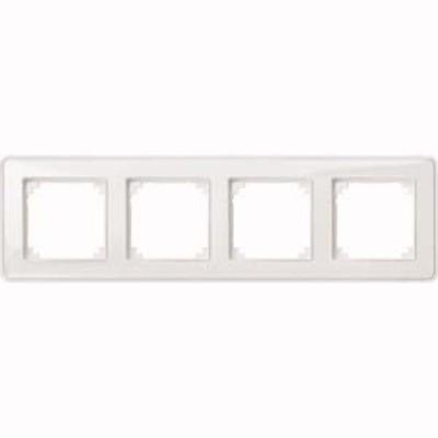 Merten Rahmen 4-fach ch tr/pws m.Farbeinlegerset MEG4040-3500