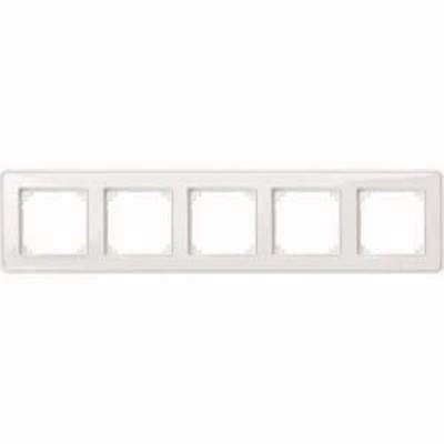 Merten Rahmen 5-fach ch tr/pws m.Farbeinlegerset MEG4050-3500