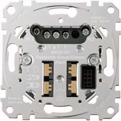 Merten Elektronik-Schalt-Einsatz 2-fach ch MEG5152-0000