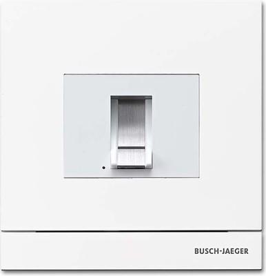 Busch-Jaeger Zutrittskontrolle außen studioweiß-mt Finger 83100/70-664