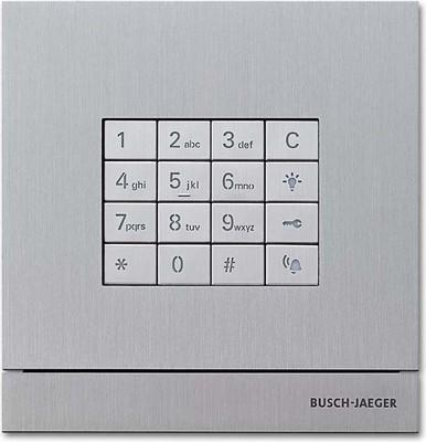 Busch-Jaeger Zutrittskontrolle außen edelstahl Tastatur-Modul 83100/71-660