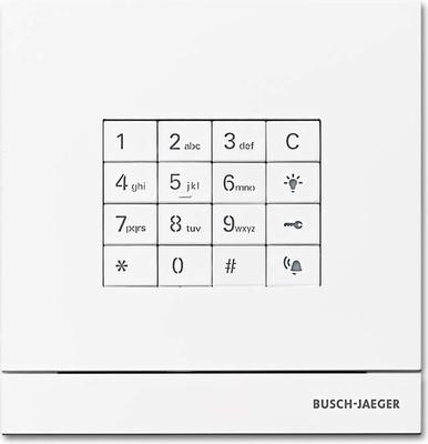 Busch-Jaeger Zutrittskontrolle außen studioweiß-mt Taste 83100/71-664