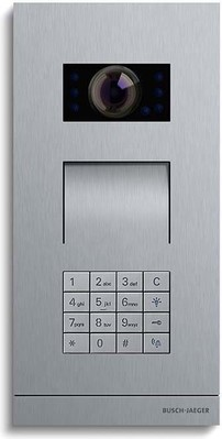 Busch-Jaeger Zutrittskontrolle außen edelstahl Video m.Tast-Mod 83121/71-660