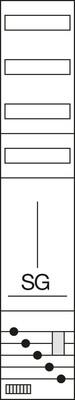 Hager Komplettfeld, universZ TRE/VT-3rh 1-fach ld ZH51X2N