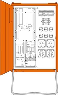 Walther Werke Anschlussverteiler 44kVA WAV0135-Lux