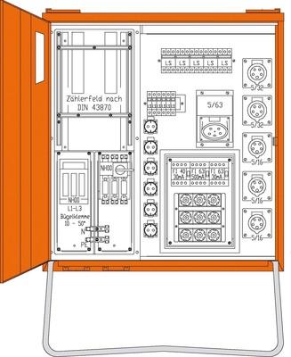 Walther Werke Anschlussverteiler 69kVA WAV0251-Lux