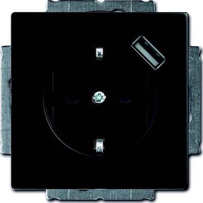 Busch-Jaeger Schuko/USB-Steckdose schwarz matt 20 EUCBUSB-885