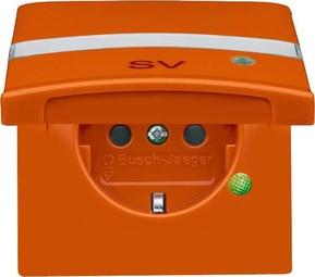 Busch-Jaeger Schuko-Steckdoseneinsatz IP44 orange 20 EUGKBLN-14-101