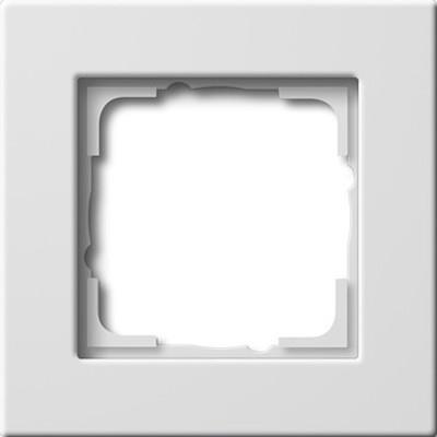 Gira Abdeckrahmen 1-fach ch reinweiß 0211207