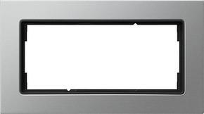 Gira Abdeckrahmen 2-fach ch aluminium ohne Mittelsteg 1002209