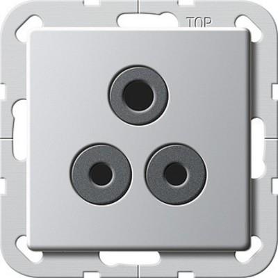 Gira Steckdose Round Pin 5 A aluminium 2772203