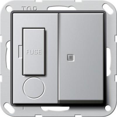 Gira Fused outlet 13A Kontroll. aluminium 2787203