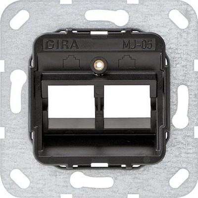 Gira Modular Jack 5 2-fach ch UP Tragring 560500