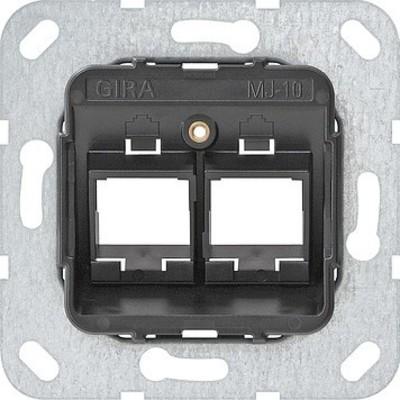 Gira Modular Jack 10 2-fach ch UP Tragring 561000
