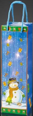 Hellum Deko-Tasche Schneemann mit LED-Kette 571004