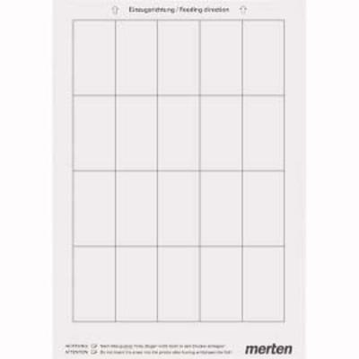 Merten Beschriftungsbogen weiß 1-fach ch Rahmen MEG4061-3500