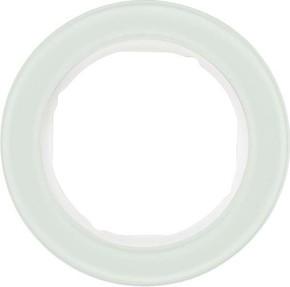 Berker Rahmen Glas/pows 1-fach ch, rund 10112009