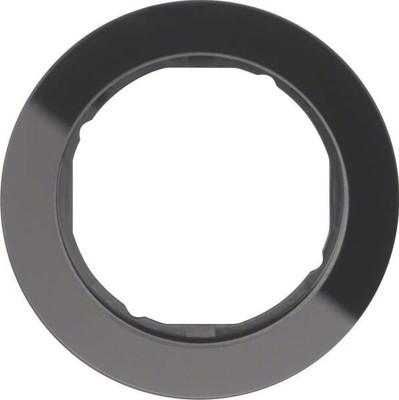 Berker Rahmen Glas/sw 1-fach ch, rund 10112016