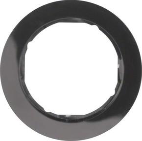 Berker Rahmen sw/gl 1-fach ch, rund 10112045