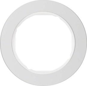 Berker Rahmen Alu/pows 1-fach ch, rund 10112074
