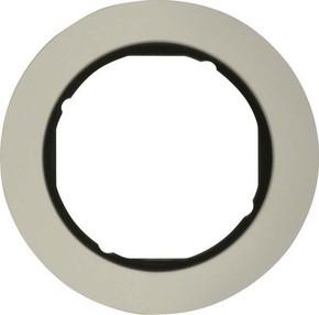 Berker Rahmen Alu/sw 1-fach ch, rund 10112084