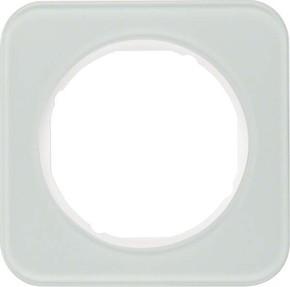 Berker Rahmen Glas/pows 1-fach ch, rund 10112109