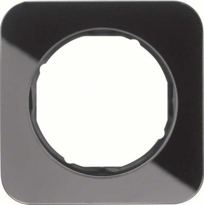 Berker Rahmen Glas/sw 1-fach ch, rund 10112116