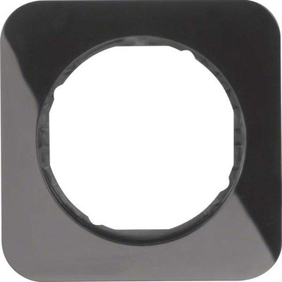 Berker Rahmen sw/gl 1-fach ch, rund 10112145