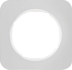 Berker Rahmen Alu/pows 1-fach ch, rund 10112174