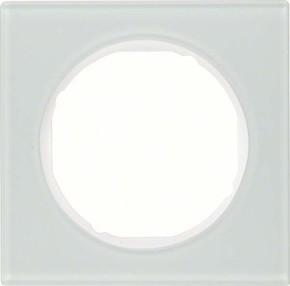 Berker Rahmen Glas/pows 1-fach ch, rund 10112209