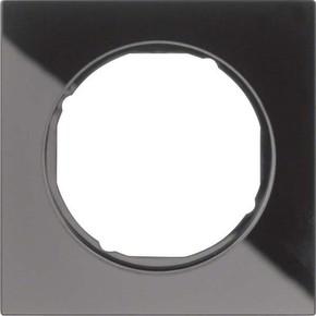 Berker Rahmen Glas/sw 1-fach ch, rund 10112216