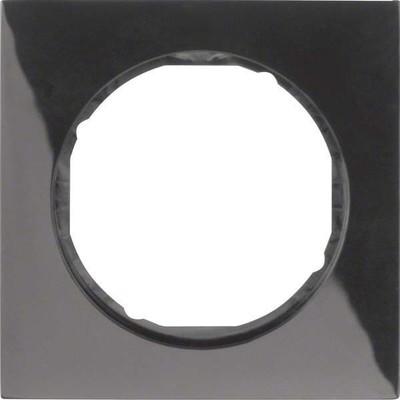 Berker Rahmen sw/gl 1-fach ch, rund 10112245