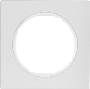 Berker Rahmen Alu/pows 1-fach ch, rund 10112274