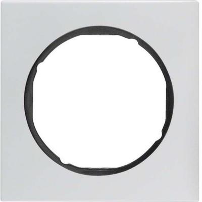 Berker Rahmen Alu/sw 1-fach ch, rund 10112284