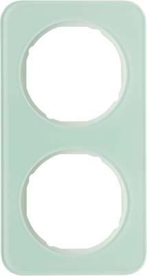 Berker Rahmen Glas/pows 2-fach ch 10122109
