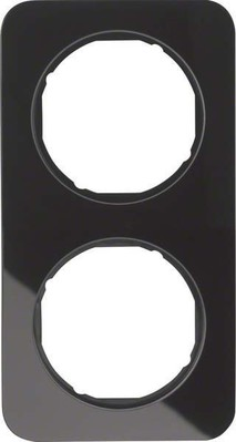 Berker Rahmen Glas/sw 2-fach ch 10122116