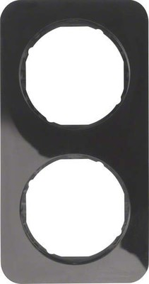 Berker Rahmen sw/gl 2-fach ch 10122145