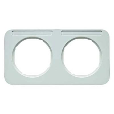 Berker Rahmen m.Beschriftungsfeld polarweiß glänzend 10122179