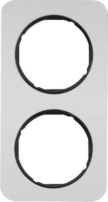 Berker Rahmen Alu/sw 2-fach ch 10122184