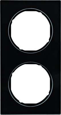 Berker Rahmen Glas/sw 2-fach ch 10122216
