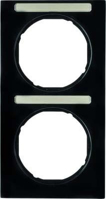 Berker Rahmen m.Beschriftungsfeld schwarz glänzend 10122225