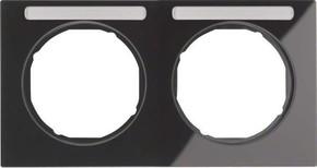 Berker Rahmen m.Beschriftungsfeld schwarz glänzend 10122235